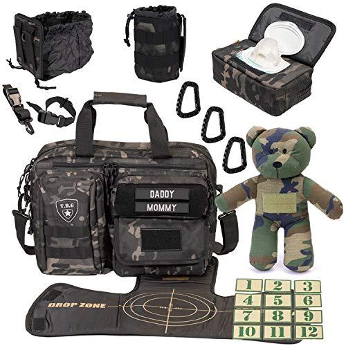 Tactical Baby Gear Full Load Out 2.0 Tactical Diaper Bag Set (Black Camo)