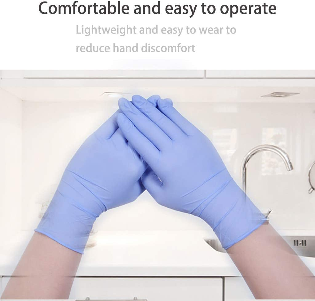 Medical,Food Safe,Cleaning,Wholesale Cathalem Comfortable Disposable Multipurpose Nitrile Exam Gloves-Medical Grade,Powder Free,Latex Rubber Free,Heavy Duty,Textured Work 100 PCS