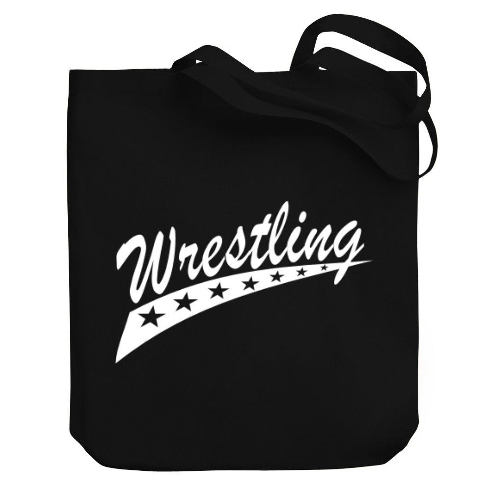 Teeburon Wrestling STAR Canvas Tote Bag