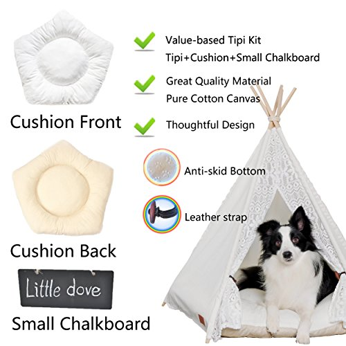 best service f0ac5 8d2f8 85%OFF little dove Pet Teepee Dog(Puppy) & Cat Bed ...