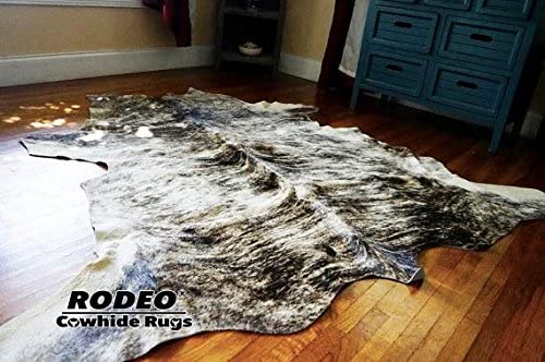 RODEO Light Brindle Cowhide Rug Large
