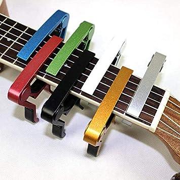Ychener Cejilla de Guitarra de Metal para Guitarra acústica, clásica, eléctrica, 6 Cuerdas, Accesorio para Guitarra: Amazon.es: Deportes y aire libre