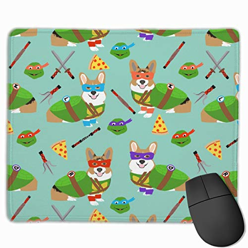 Teenage Mutant Corgis - Cute Dogs in Costumes, Cosplay, Comics, Comic-con, Halloween, Dog, Dogs, Blue The Mouse Pad 10