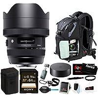 Sigma 12-24mm f/4 DG HSM Art Lens for Nikon F with Focus Accessory Bundle