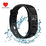 Fitness Tracker Heart Rate Monitor Bracelet IP67 Waterproof Bluetooth Call SMS Alarm Smart Watch Calorie Counter Sport Wristbands Sleep Monitor Silicon OLED 0.66 Inch For Android iOS Phone