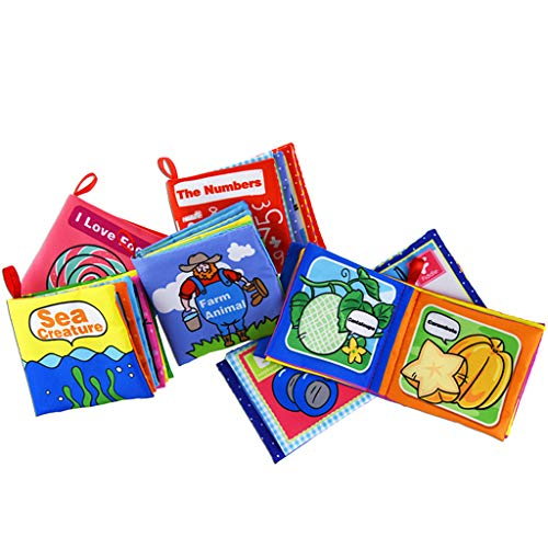 WYTong Educational Book, 6PCS Cloth Books Baby, My First Non-Toxic Soft Clothing Book Educational Toy【US Fast Shipment】