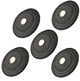 Sterling Seal SSI7157MDSCC.250X500X50X5 Medium Density Foam Rubber, PSA one side, EPDM BLEND, 1/4'' thick x 1/2'' wide x 50' long, ''DIY'' Gasket Material (Pack of 5)