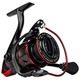 KastKing Sharky III Fishing Reel - New Spinning Reel - Carbon Fiber 39.5 LBs Max Drag - 10+1 Stainless BB for Saltwater or Freshwater - Oversize Shaft - Super Value!, Black/Blue