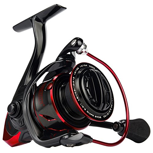 KastKing Sharky III Fishing Reel - NEW 2018 Spinning Reel - Carbon Fiber 39.5 LBs Max Drag - 10+1 Stainless BB for Saltwater or Freshwater - Oversize Shaft - Super Value! (Best Spinning Reel)