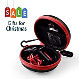 HiGoingl Carrying Cases,Portable Protection EVA Hard Cases with Carabiner