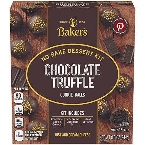 Baker's Chocolate Truffle Cookie Balls No Bake Dessert Kit (8.6 oz Box)