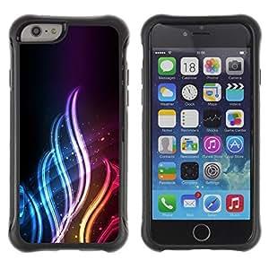 Suave TPU GEL Carcasa Funda Silicona Blando Estuche Caso de protección (para) Apple Iphone 6 / CECELL Phone case / / Neon Flame /
