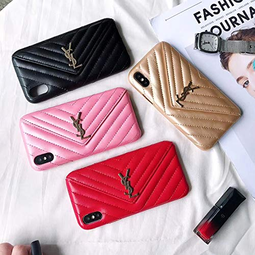 Us-Fast Delivery iPhone XR Case, Wallet Luxury Vintage Monogram Stripe Case for iPhone XR Women Girls
