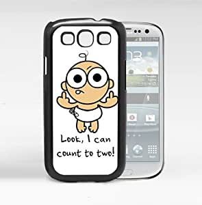Funny Cartoon Baby Flicking The Middle Finger Hard Snap On Cell Phone Case Cover (Samsung Galaxy S3 I9300)