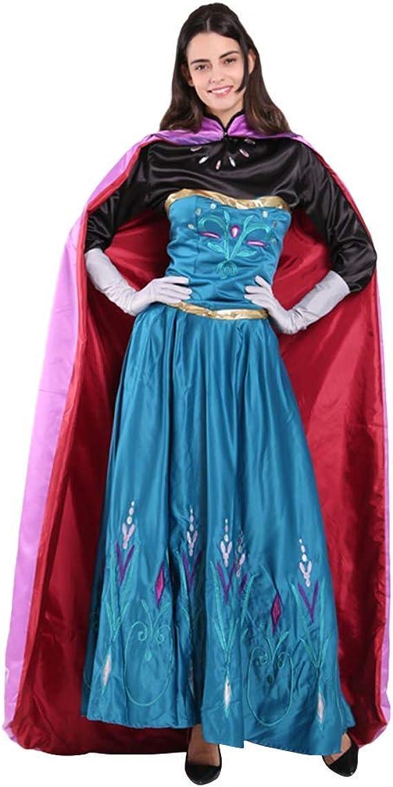 OwlFay Disfraz Anna Frozen Mujer Vetsido de Princesa Carnaval ...