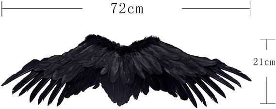 Plume Noire Ailes d/'ange oiseau Crow Halloween Fancy Dress Costume Enterrement