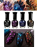 new black nail polish - New 4 Colors Kleancolor Glitter Collection Nail Polish by Unknown