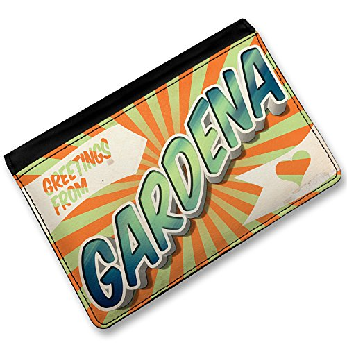 Price comparison product image RFID Passport Holder Greetings from Gardena,  Vintage Postcard,  Cover Case / Wal