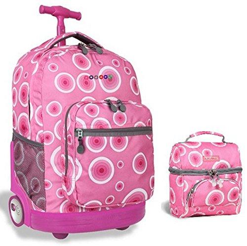 j-world-target-pink-sunrise-roller-backpack-back-pack-and-corey-lunch-bag-bundle-set
