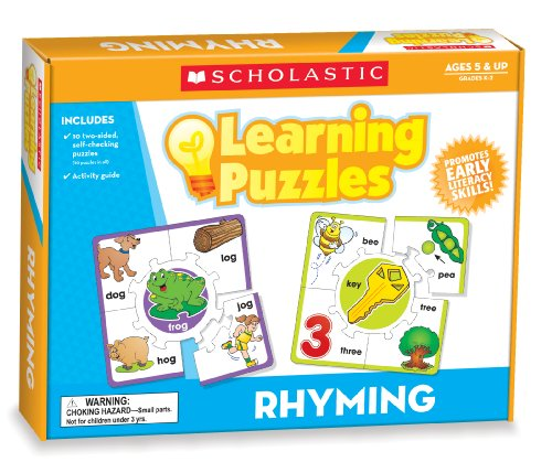 Scholastic Teacher's Friend Rhyming Learning Puzzles, Multiple Colors (TF7154)