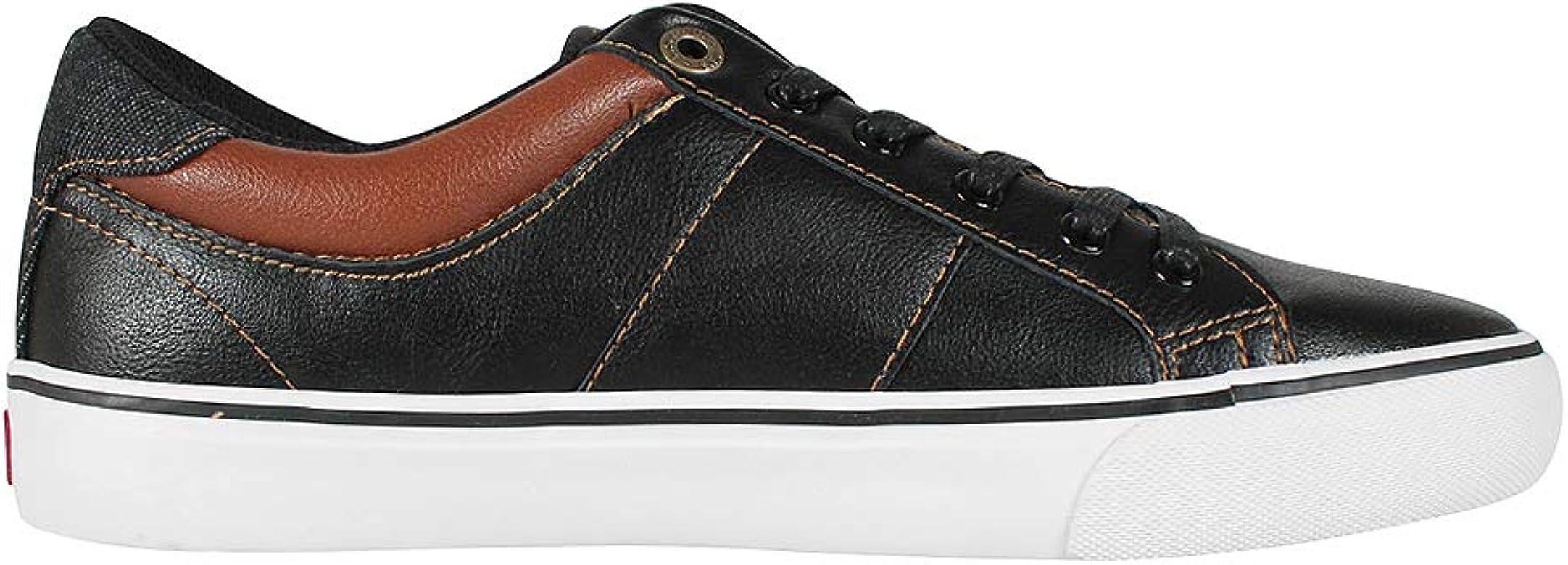 Levis Hombre Sneaker Abbott Regular Black, Schuhe Herren:40: Amazon.es: Zapatos y complementos