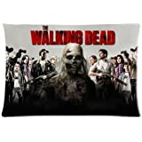 "The Walking Dead Zombie Pillowcase Covers Tow Sides Pillow Case With Zipper Size: 20""x30"""