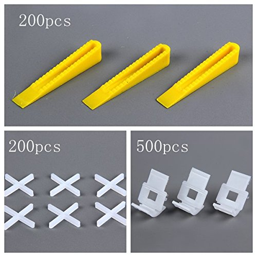 New 900 Tile Leveling System 500 Clips + 200 Wedges Tile Leveler Spacers +200 positioning (200 Cross)