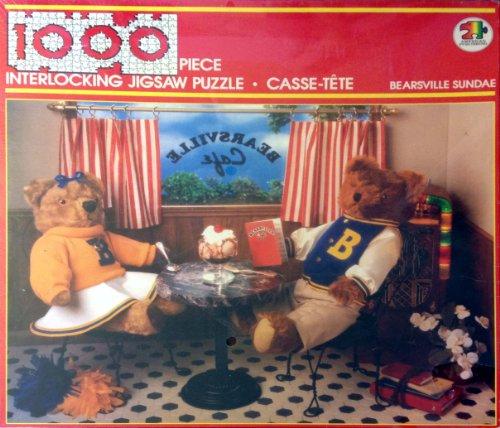 Bearsville Sundae (Teddy Bears at a Cafe) 1000 pc. Jigsaw Puzzle