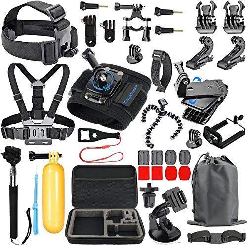 SmilePowo 48-in-1 Accessory Kit for GoPro Hero7,6,5,4 Black,