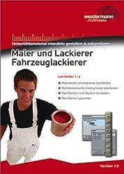 Maler und Lackierer/ Fahrzeuglackierer: CD-ROM interaktiv Lernfelder 1-4