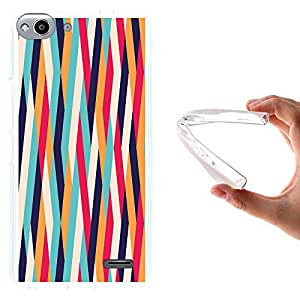 WoowCase - Funda Gel Flexible { Vodafone Smart Ultra 6 } Rayas Color Carcasa Case Silicona TPU Suave