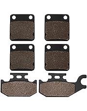 Cyleto FA54 Carbon Fiber Front and Rear Brake Pads for YAMAHA Kodiak YFM 400 YFM400 2000 2001 2002 2003 2004 2005 2006 Grizzly YFM 400 YFM 400 4x4 2007 2008 ATV