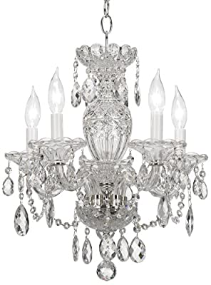 Schonbek 2999-40H Swarovski Lighting Sterling Chandelier, Silver