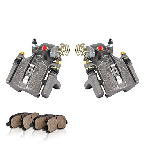 remium Loaded OE Caliper Assembly Set + Quiet Low Dust Ceramic Brake Pads (Cobra Rear Caliper)