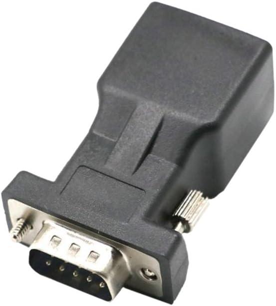 Gazechimp DB9 RS232 COM Stecker An RJ45 Buchse Karte Serieller DB9 Extender An LAN