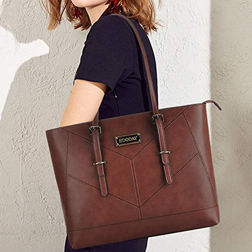 Laptop Bag for Women,13-15.6 Inch Laptop Tote Bag,Casual Work Tote Business Computer Bags for Women Shoulder Bag (Coffee)