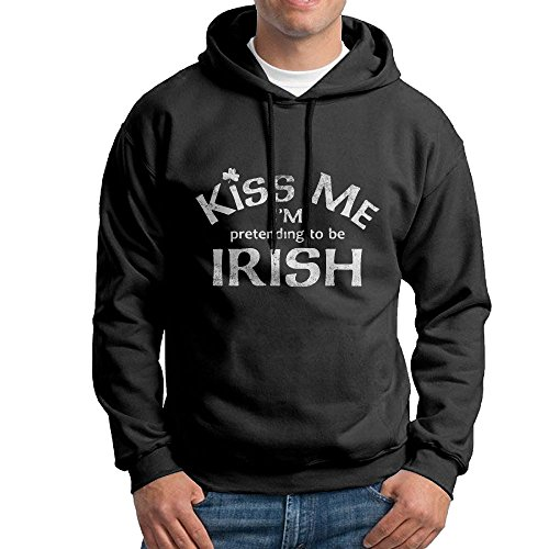Kiss Me I'm Pretending To Be Irish Men's Hooded Sweatshirt