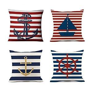 51UYZEg1ZyL._SS300_ 100+ Nautical Pillows & Nautical Pillow Covers