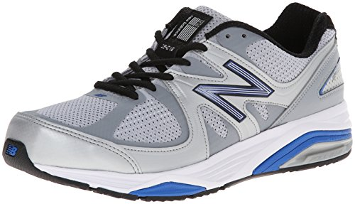 (New Balance Men's M1540V2 Running Shoe, Silver/Blue, 9 4E US)