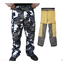 Bikers Gear Motorcycle Gray Camo Kevlar Jeans Removable Armor Classic Cut Size 40R