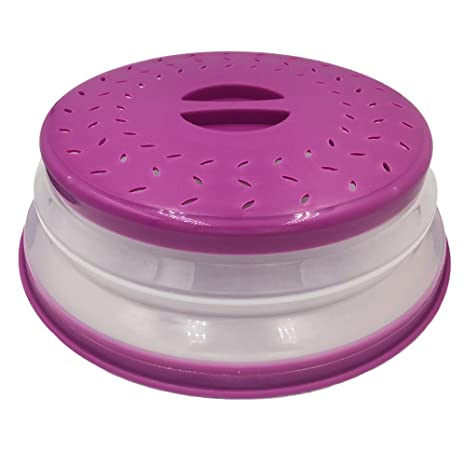 """Microwave Lid Food Cover to Prevent Splatters when Cooking Diameter-10/"""" BPA-free"""