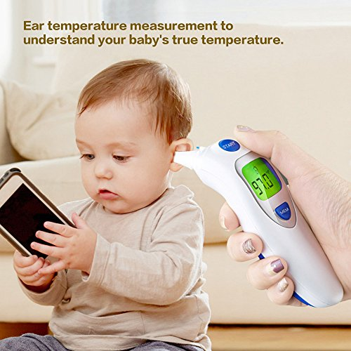 Dom Marzen Thermometer Ear Temperature Forehead Fever belly electronic Contact IR Baby Child Adult Old man FDA Without contact pingpang by Dom Marzen (Image #4)
