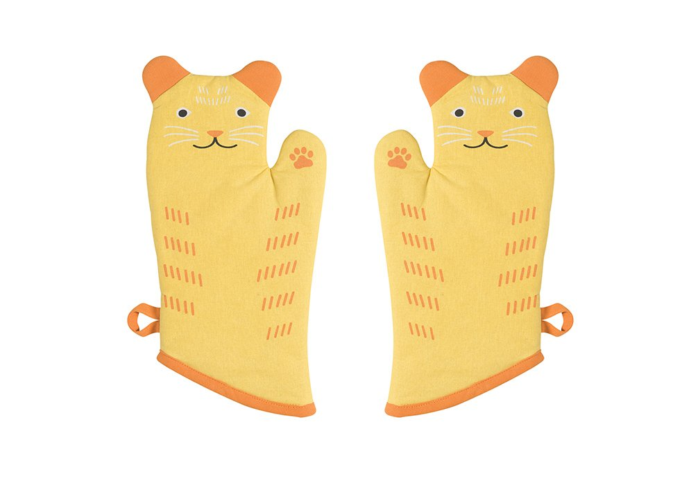 Now Designs Critter Oven Mitt, Set of Two, Calvin Cat