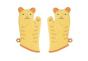 Now Designs Critter Oven Mitt, Set of Two, Calvin Cat