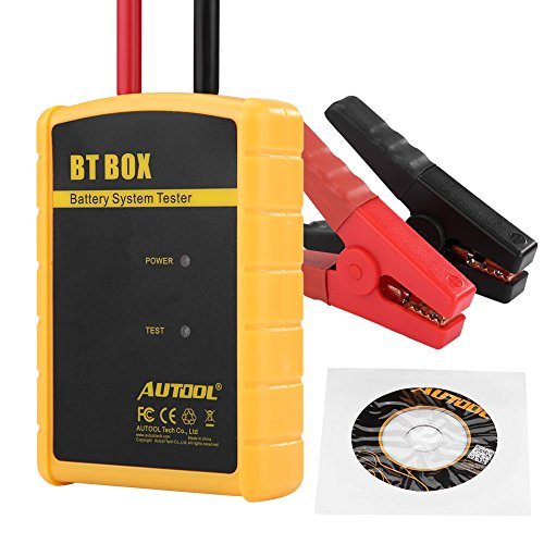 Battery System Tester Car Charge Analyzer Car Battery System Tester Diagnostic Car 12V BT Box for IOS/Android: