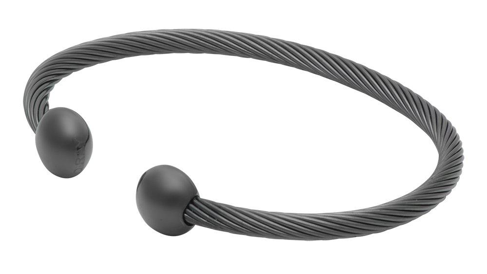 Qrayガンメタルデラックスゴルフアスレチックブレスレット Large: 7.75\  B01CIT5VHC