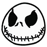 White Jack the Skeleton Nightmare Before Christmas Halloween Disney Patch Embroidered Iron on Hat Jacket Hoodie Backpack Ideal for Gift/ 7cm(w) X 7cm(h)