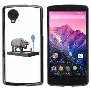 YOYOSHOP [Funny Rhino On The Street] LG Google Nexus 5 Case