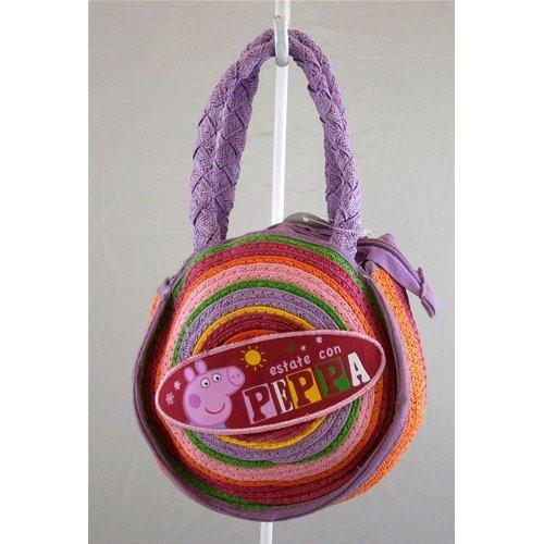 Tasche Gehstock Disney Peppa Pig H 16cm L 15cm W 8cm aus Stroh