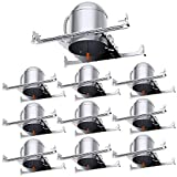 """10 Pack 6"""" New Construction LED Can Air Tight IC Housing LED Recessed Lighting"""